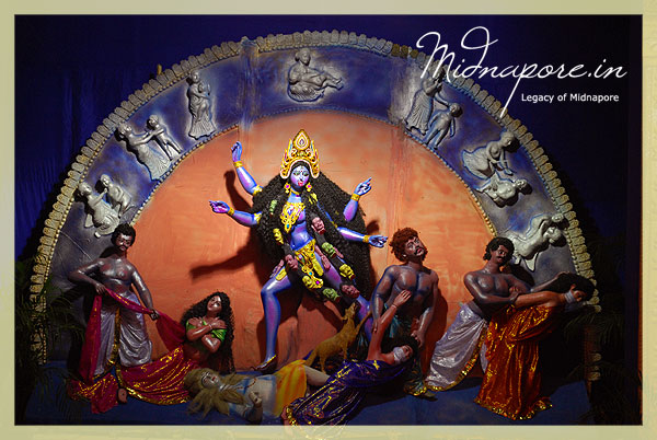 Kali puja 2009 in kharagpur town west midnapore