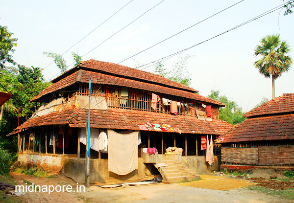 House of Matangini Hazra at Alinan village, Purba Medinipur (After marriage).