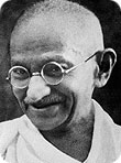Mahatma Gandhi (Mohan Chand Karam Chand Gandhi)  in Midnapore  (Midnapore)