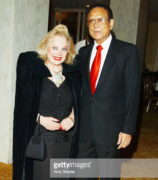 Carol Connors and Dr. Mani Bhaumik during Sir Ben Kingsley Presents the Mahatma Gandhi Humanitarian Award to Dr. Mani Bhaumik at Regent Beverly Wilshire GETTY IMAGES