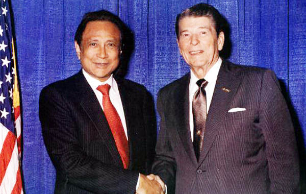 With President Ronald Regan IMDb