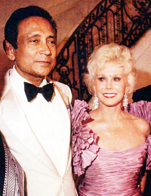 With actress friend Eva Gabor