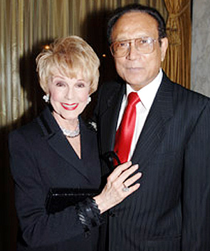 Barbara Rush and Dr. Mani Bhaumik